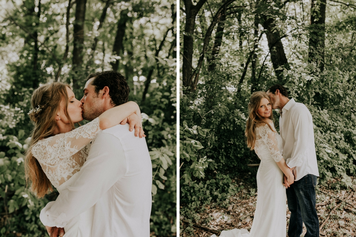 boho_bride_and_groom_kissing_in_green_forrest.jpg