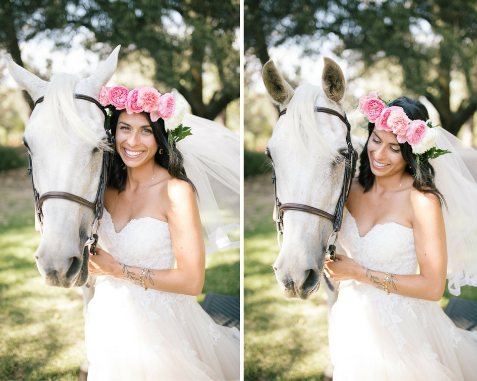 boho_bride_standing_next_to_horse__pink_flower_crown.jpg