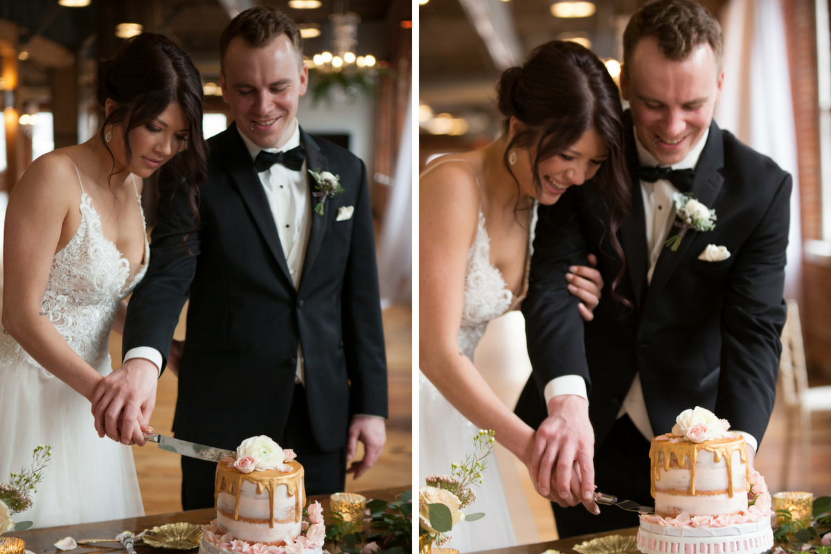 bride_and_groom_laaghing_cutting_wedding_cake_gold_silverware.jpg