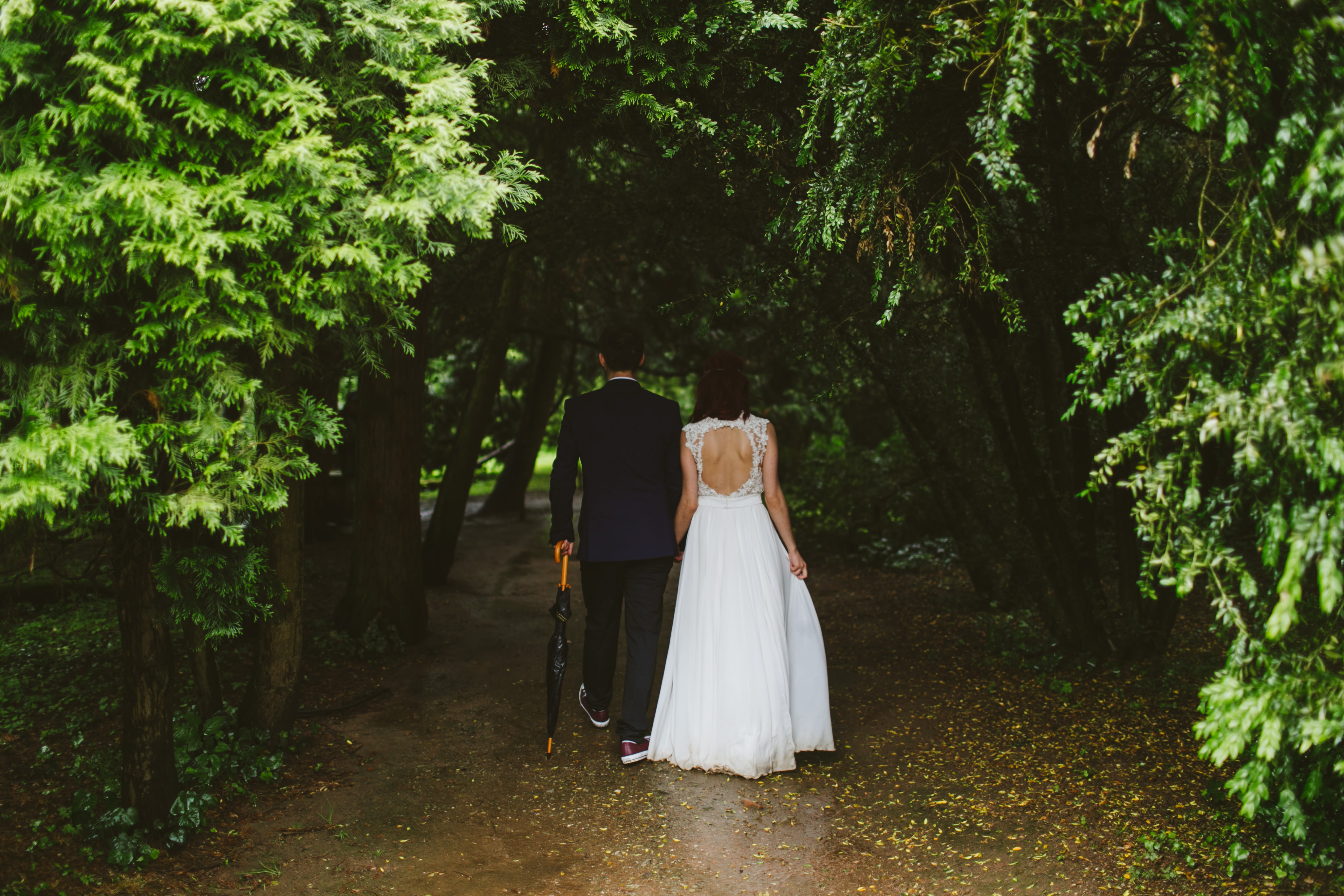 bride_lace_cutout_gown_holding_hands_groom_umbrella.jpeg
