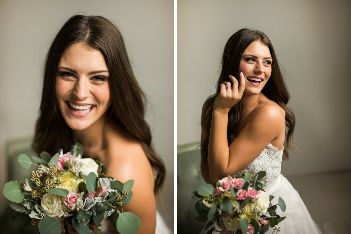 bride_laughing_holding_yellow_and_pink_bridal_bouquet.jpg