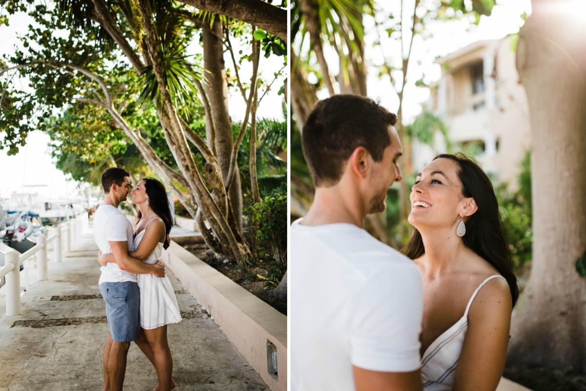 couple_almost_kissing_under_trees_mexico_engagement.jpg