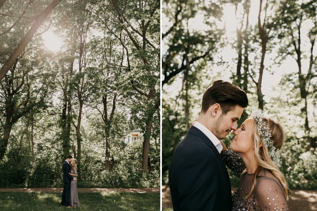 couple_touching_noses_engagement_photos_trees.jpg