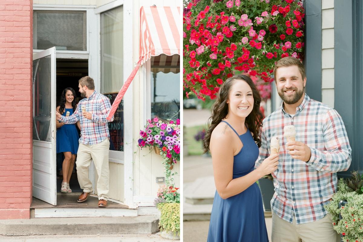 engaged_couple_standing_with_ice_cream_outside_shop.jpg