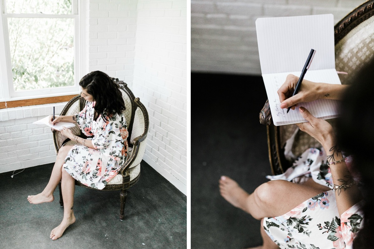 floral_robe_bride_sitting_writing_letter_to_groom.jpg