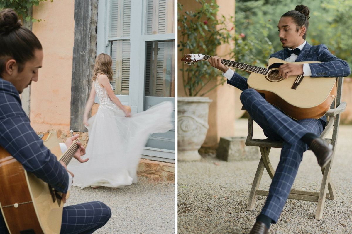 groom_playing_guitar_while_french_bride_dances_in_wedding_gown.jpg