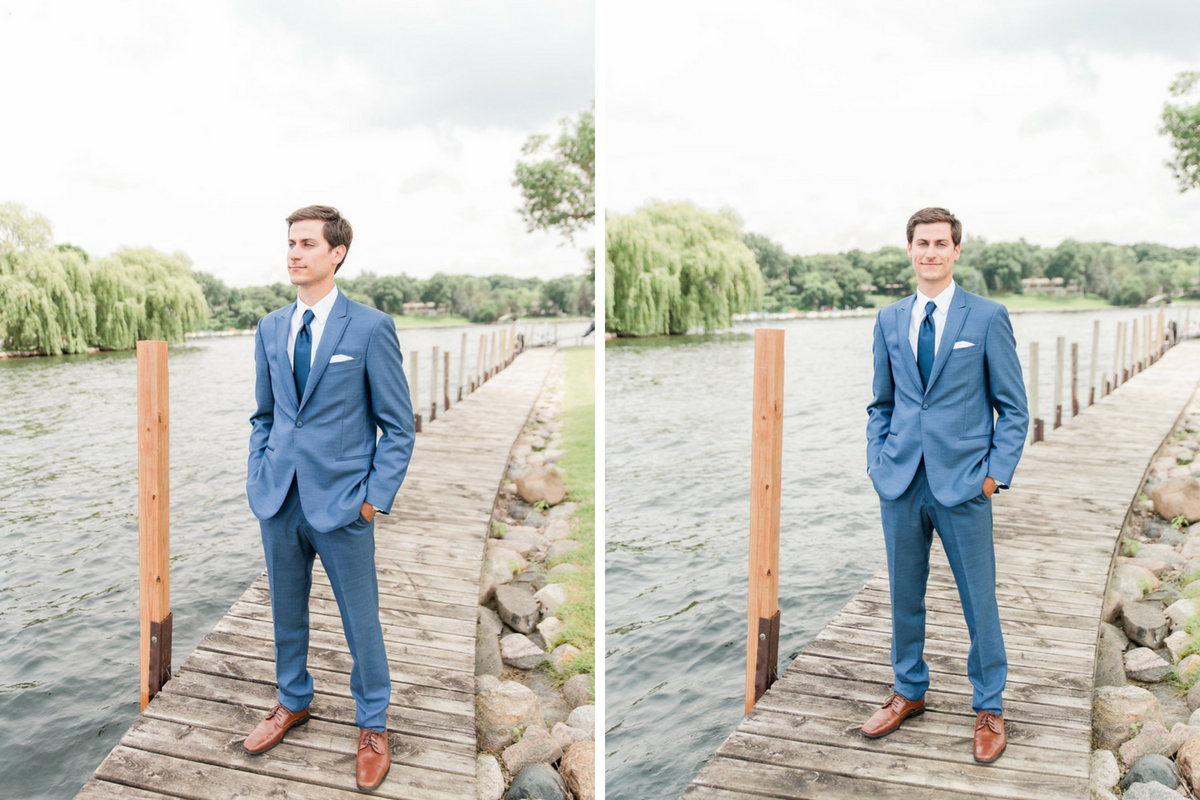 groom_standing_on_dock_lakeside_navy_tux_brown_leather_shoes.jpg