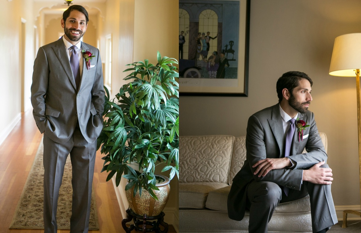handsome_groom_with_beard_standing_by_big_green_plant_and_sitting_on_cream_couch_in_groom_suite.jpg