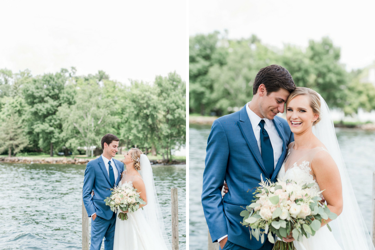 happy_bride_and_groom_standing_by_lake_minnetonka_bridal_bouquet.jpg