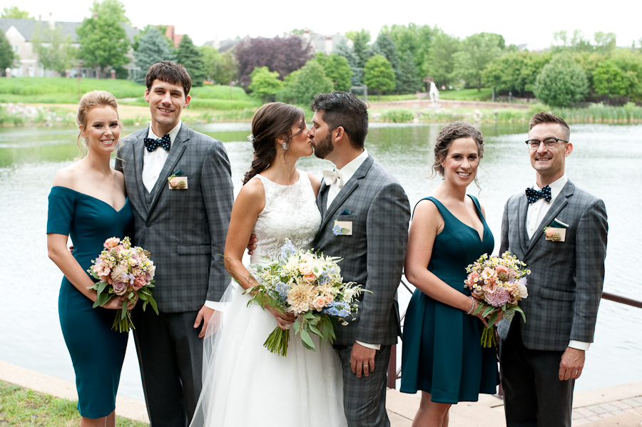 mismatched_teal_bridesmaid_dresses_gray_plaid_groosmen.jpg