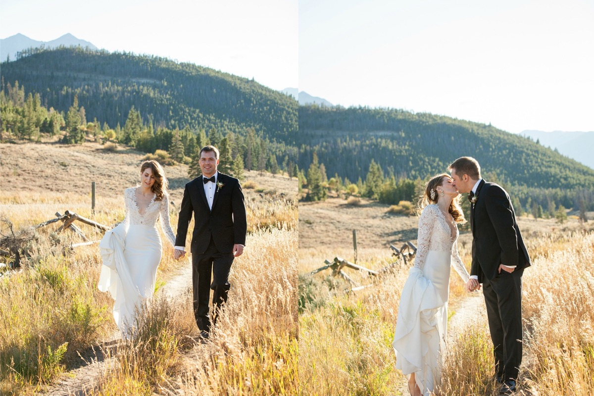 newlyweds_walking_and_kissing_in_colorado_mountains_yellow_weeds.jpg