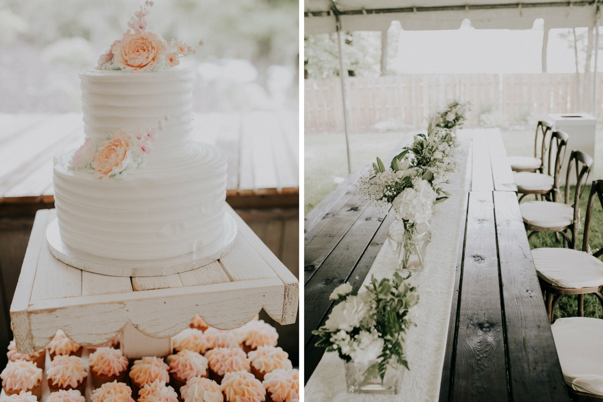 pretty_white_cake_with_peach_flowers_cupcakes_wood_table_setting.jpg
