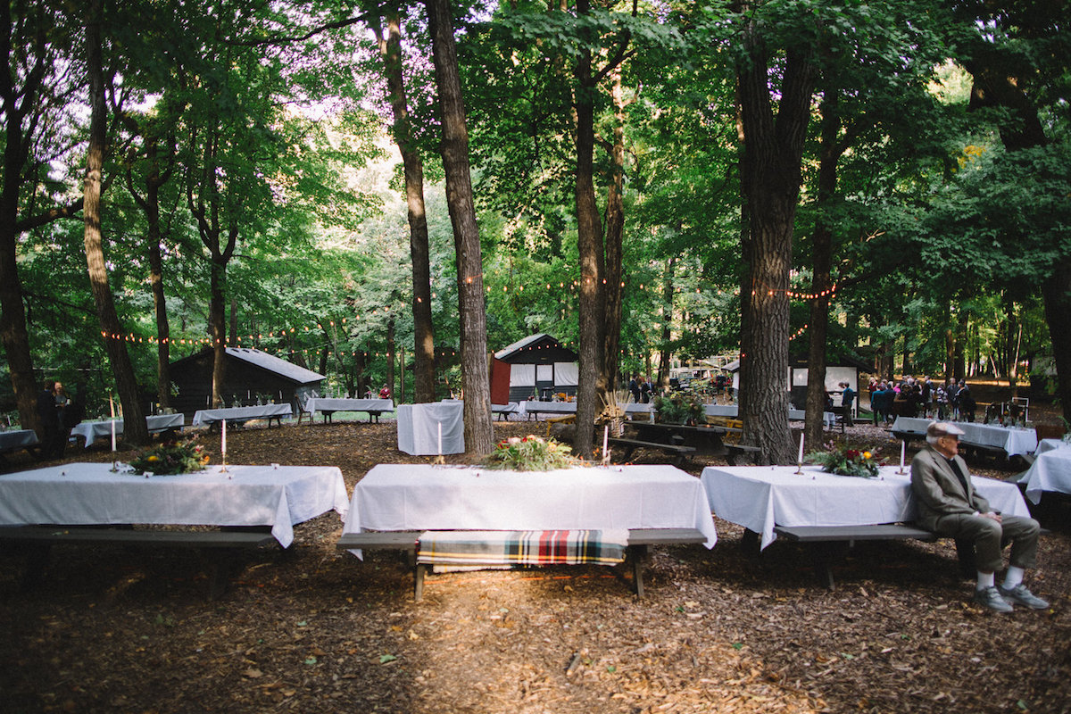 reception_setup_for_vintage_campground_wedding_in_woods.jpg