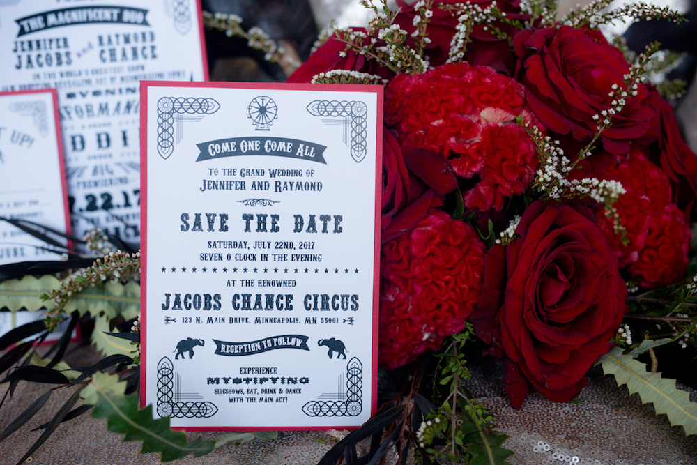 save_the_date_red_and_black_wedding_circus_invitations.JPG