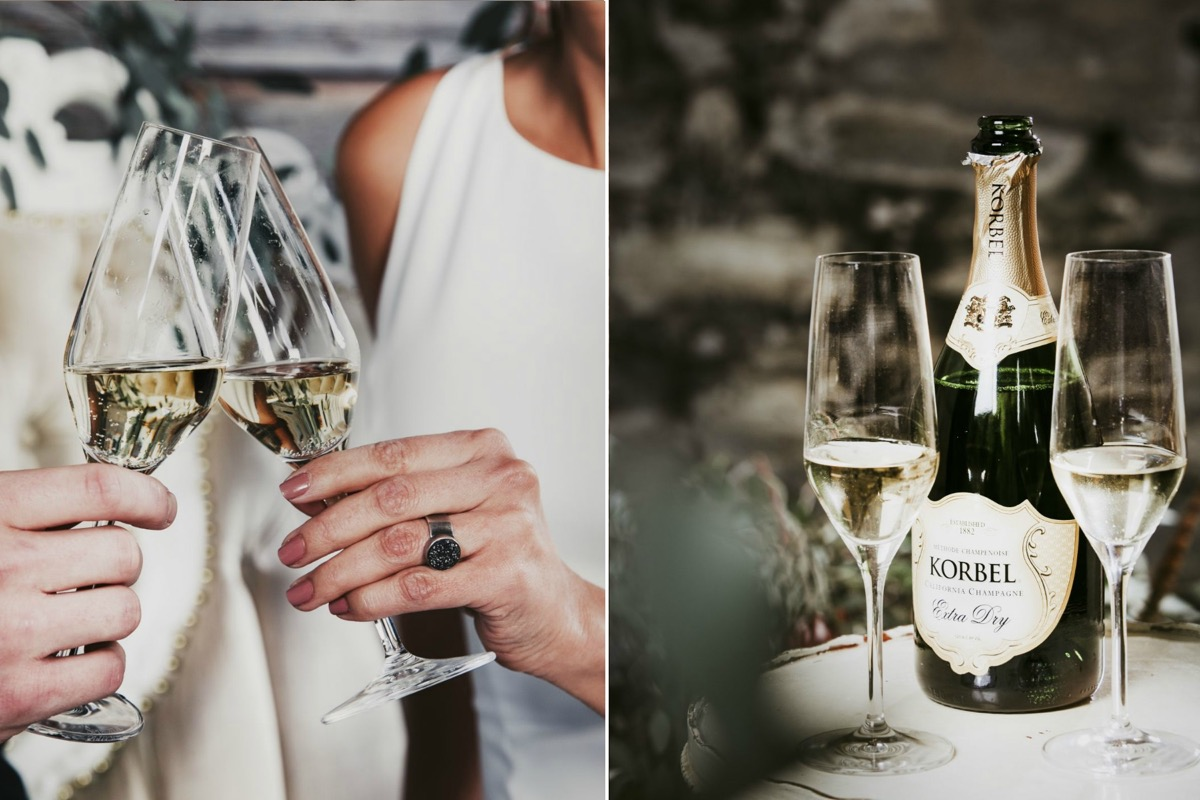 toasting_champagne_glasses_dark_unique_black_wedding_ring.jpg