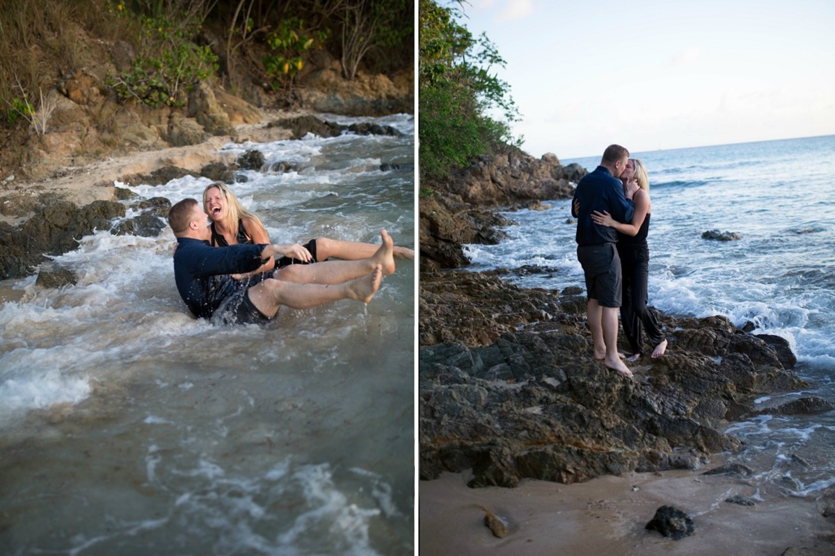 wave_pushing_couple_over_laughing_engagement_photos.jpg