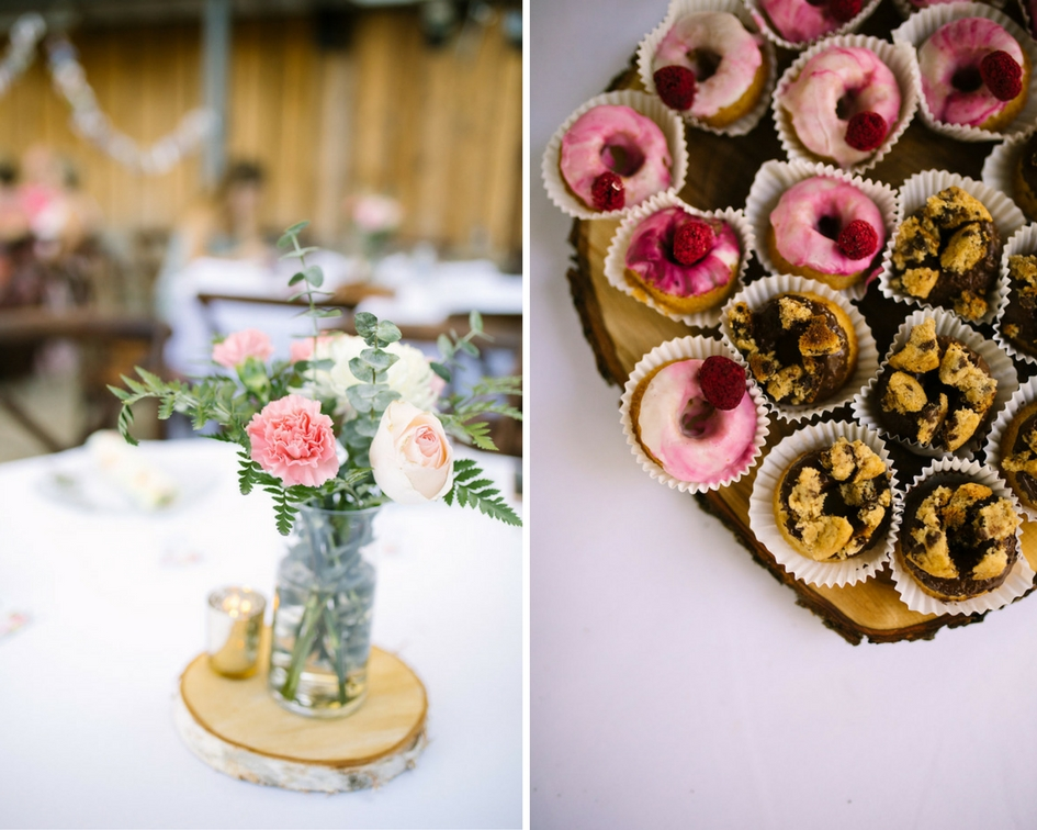 wedding_reception_colorful_cupcakes_on_wooden_log.jpg