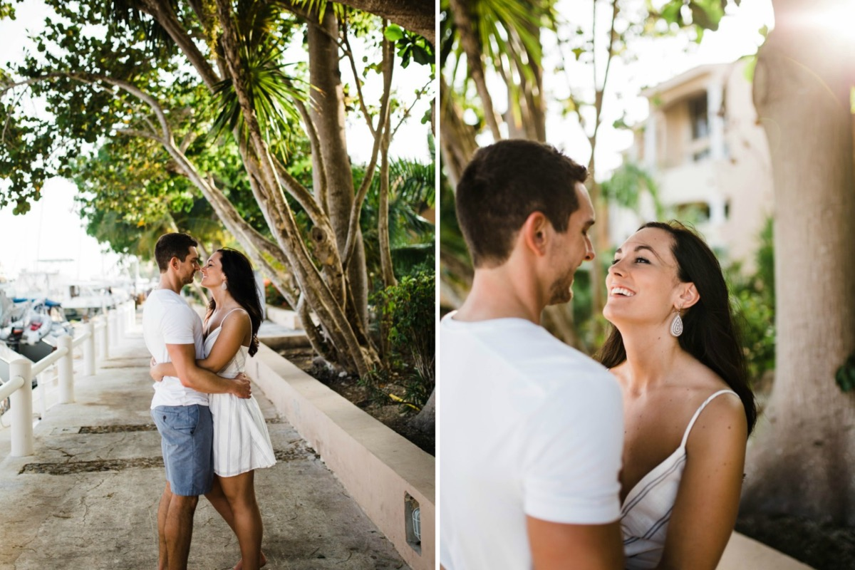 white_striped_dress_tropical_engagement_photos.jpg