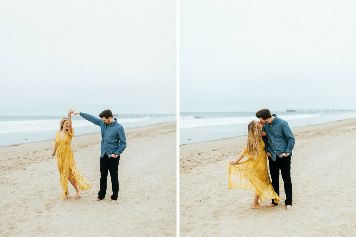 woman_in_yellow_dress_dancing_and_kissing_each_other_california_sandy_beach.jpg