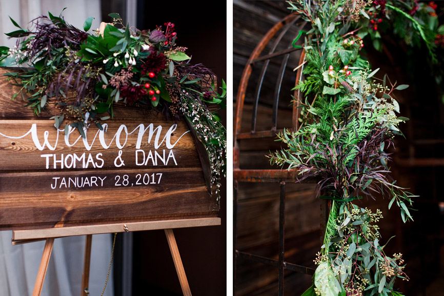 wooden_sign_white_lettering_calligraphy_red_green_leaves.jpg